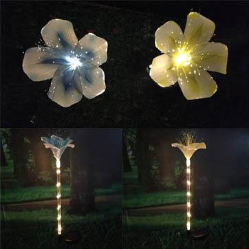 vlákno optické kvetinové dekorácie svetlo