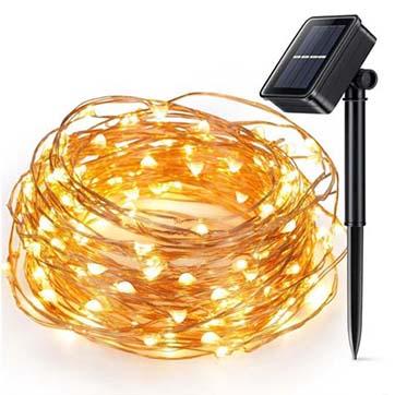 slnečná energia medené drôty strunové svetlo
